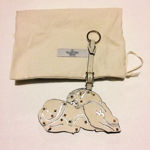 Valentino Panther Key Chain / Ring Bag Charm NWOT